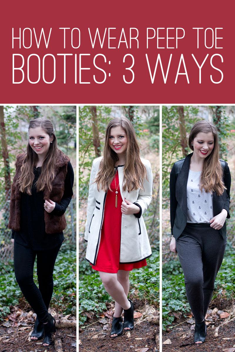How To Wear Peep Toe Booties – Hello