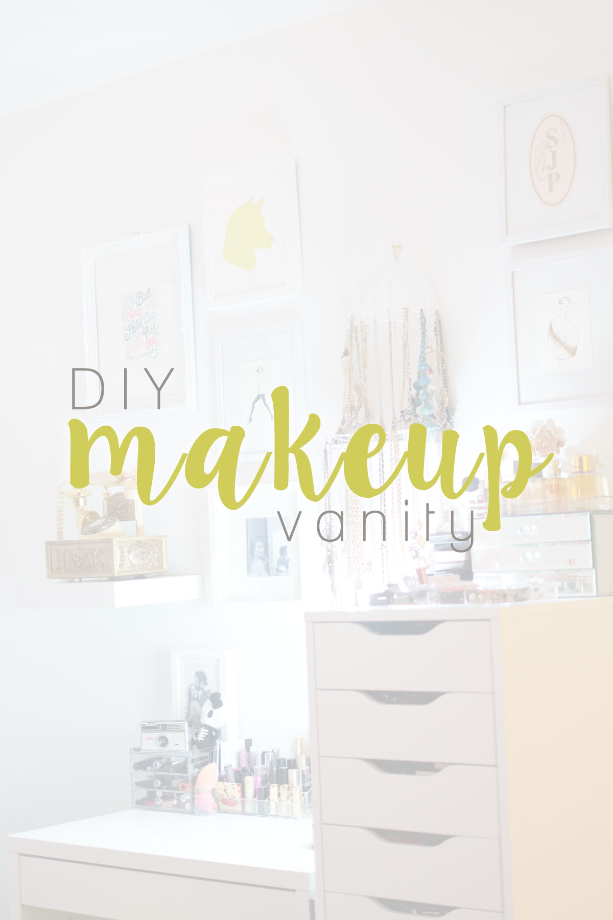 Diy Makeup Vanity Hello Rigby Seattle Fashion Beauty Blog For